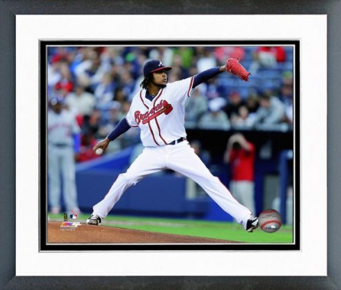 Atlanta Braves Ervin Santana Action Framed Photo