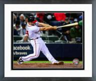 Atlanta Braves Evan Gattis Action Framed Photo