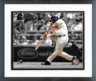 Atlanta Braves Evan Gattis Spotlight Action Framed Photo