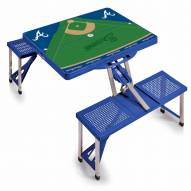 Atlanta Braves Folding Picnic Table