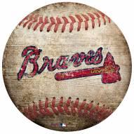 Atlanta Braves Baseball Shaped Sign