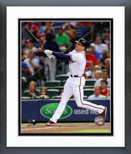 Atlanta Braves Freddie Freeman Action Framed Photo