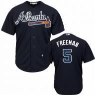 Atlanta Braves Freddie Freeman Replica Navy Baseball Jersey