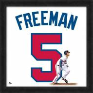 Atlanta Braves Freddie Freeman Uniframe Framed Jersey Photo