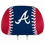 Atlanta Braves Full Print Headrest Covers