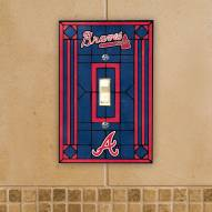 Atlanta Braves Glass Single Light Switch Plate Cover