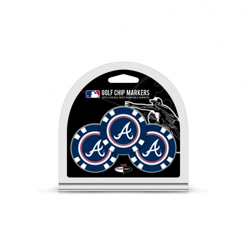 Atlanta Braves Golf Chip Ball Markers