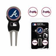 Atlanta Braves Golf Divot Tool Pack
