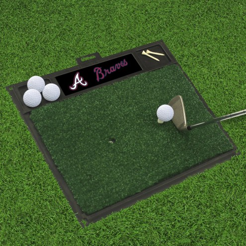 Atlanta Braves Golf Hitting Mat