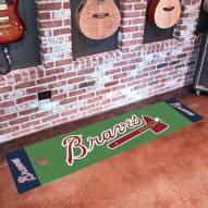 Atlanta Braves Golf Putting Green Mat