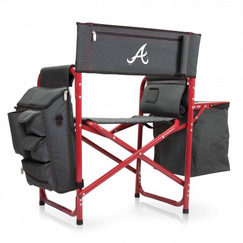 Atlanta Braves Gray/Red Fusion Folding Chair
