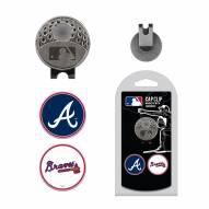 Atlanta Braves Hat Clip & Marker Set