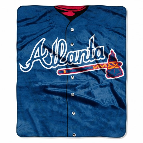 Atlanta Braves Jersey Raschel Throw Blanket