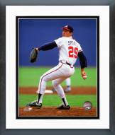 Atlanta Braves John Smoltz 1992 Action Framed Photo