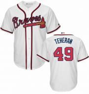 Atlanta Braves Julio Teheran Replica Home Baseball Jersey