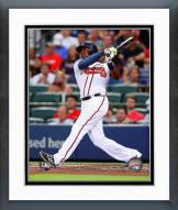 Atlanta Braves Justin Upton Action Framed Photo