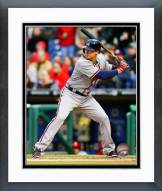 Atlanta Braves Kelly Johnson Action Framed Photo