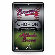 Atlanta Braves Large Embossed Metal Wall Sign