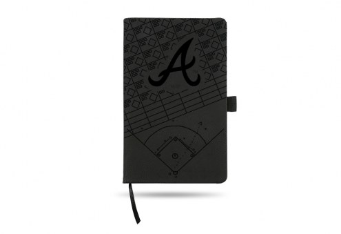 Atlanta Braves Laser Engraved Black Notepad