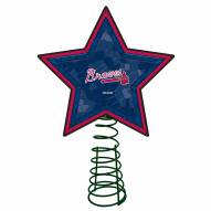 Atlanta Braves Light Up Art Glass Mosaic Tree Topper