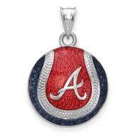 Atlanta Braves Sterling Silver Baseball Pendant