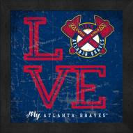 Atlanta Braves Love My Team Color Wall Decor