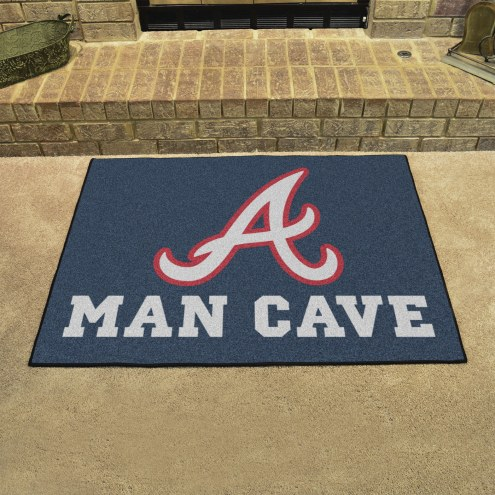 Atlanta Braves Man Cave All-Star Rug