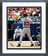 Atlanta Braves Matt Diaz Action Framed Photo