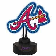 Atlanta Braves Team Logo Neon Light
