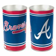 Atlanta Braves Metal Wastebasket