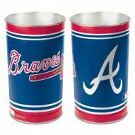 Atlanta Braves Metal Wastebasket