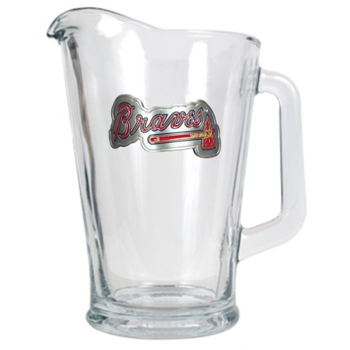 Atlanta Braves MLB 60 Oz. Glass Pitcher
