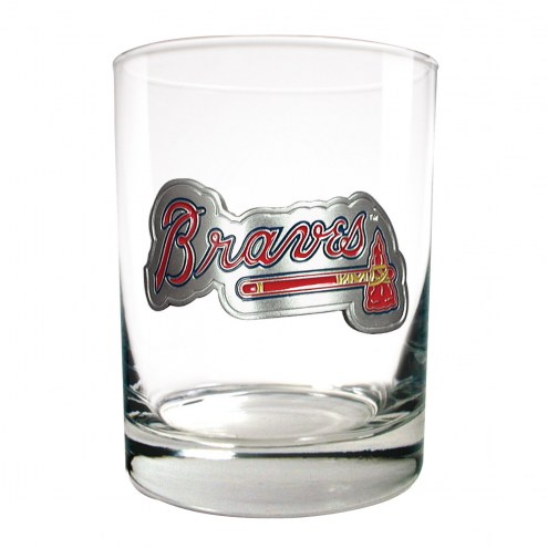 Atlanta Braves MLB 2-Piece 14 Oz. Rocks Glass Set