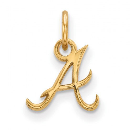 Atlanta Braves MLB Sterling Silver Gold Plated Extra Small Pendant