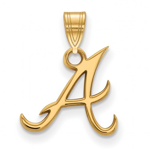 Atlanta Braves MLB Sterling Silver Gold Plated Small Pendant