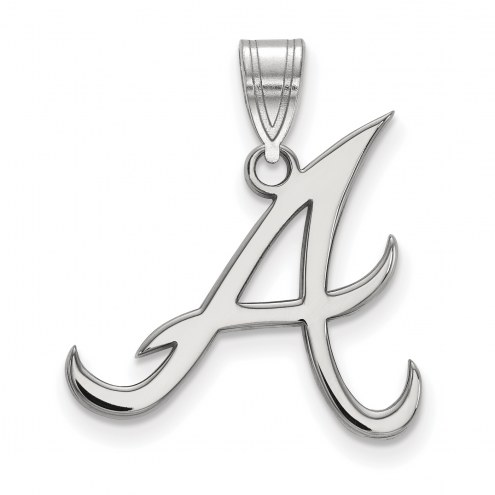 Atlanta Braves Sterling Silver Large Pendant