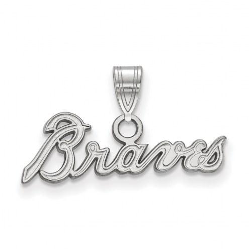Atlanta Braves Sterling Silver Small Pendant