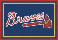 Atlanta Braves MLB Team Spirit Area Rug