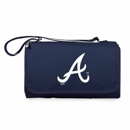 Atlanta Braves Navy Blanket Tote