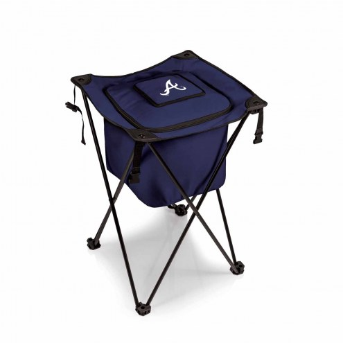 Atlanta Braves Navy Sidekick Portable Cooler