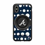 Atlanta Braves OtterBox Symmetry Polka Dot PopSocket iPhone Case