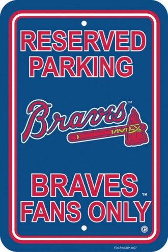 Atlanta Braves Parking Sign