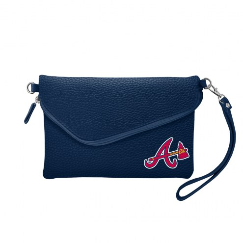 Atlanta Braves Pebble Fold Over Purse