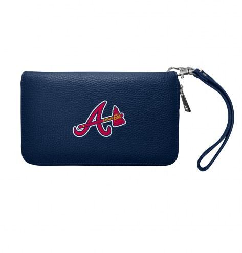 Atlanta Braves Pebble Organizer Wallet