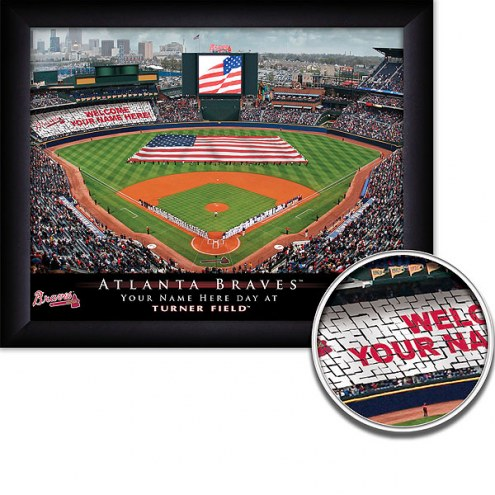 Atlanta Braves 11 x 14 Personalized Framed Stadium Print