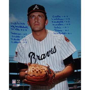 "Atlanta Braves Phil Niekro Pinstripe Jersey Signed 16"" x 20"" Photo"
