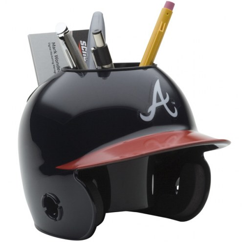 Atlanta Braves Schutt Batting Helmet Desk Caddy