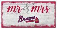 Atlanta Braves Script Mr. & Mrs. Sign