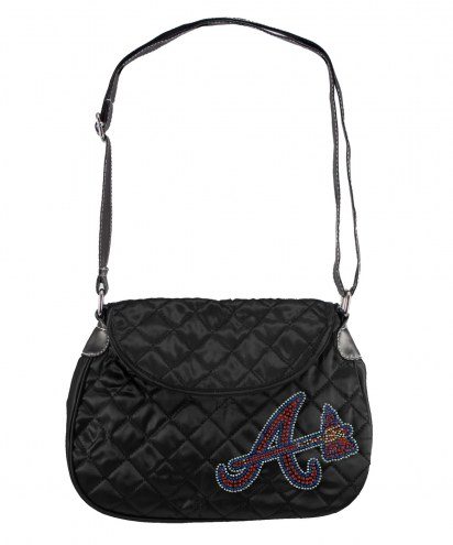 Atlanta Braves Sport Noir Quilted Saddlebag