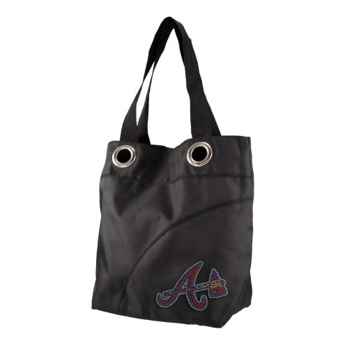 Atlanta Braves Sport Noir Sheen Tote